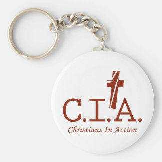 CIA Agents to the Lord Christians In Action Key Chain