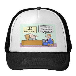 CIA applicant burned his resume. Trucker Hat
