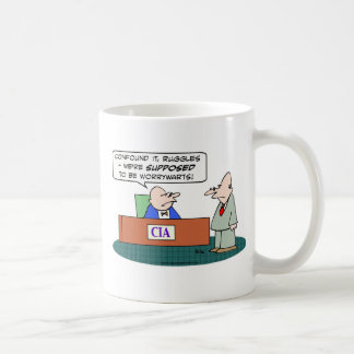 cia central intelligence agency worrywarts coffee mug