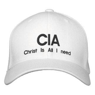 CIA Christ Is All I need Baseball Cap