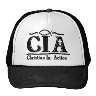 CIA CHRISTIAN IN ACTION ACRONYM TRUCKER HAT