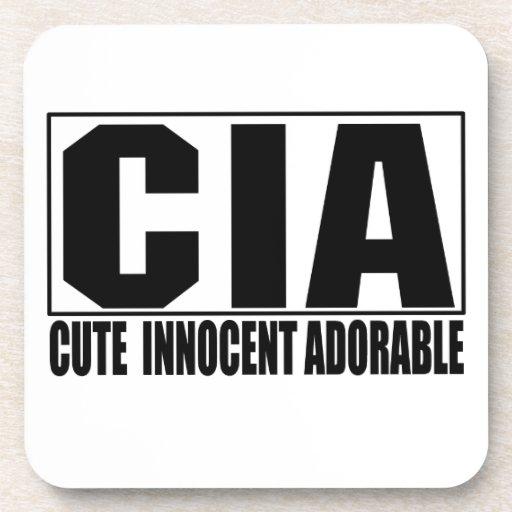 CIA Cute Innocent Adorable Coaster