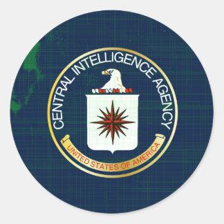 CIA Flag Grunge Classic Round Sticker