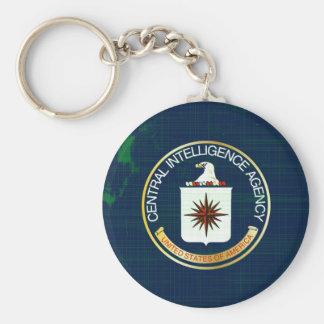 CIA Flag Grunge Keychain
