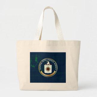 CIA Flag Grunge Large Tote Bag