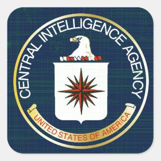 CIA Flag Grunge Square Sticker