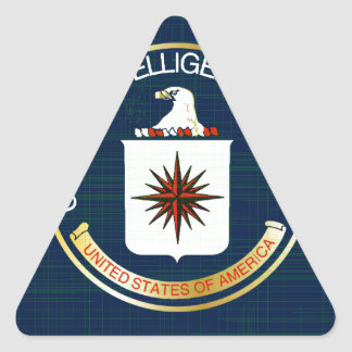 CIA Flag Grunge Triangle Sticker