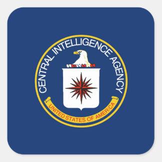 CIA Flag Square Sticker