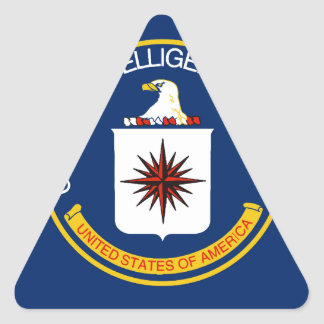 CIA Flag Triangle Sticker