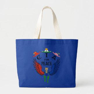 CIA for Peace China Large Tote Bag