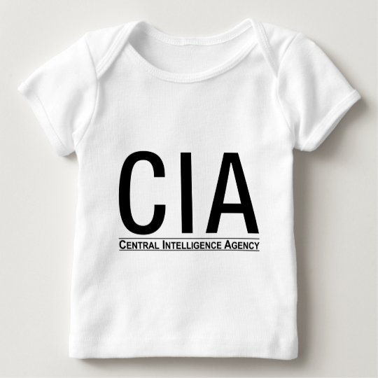 CIA Initials + Central Inteligence Agency Text Baby T-Shirt