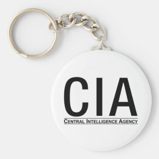 CIA Initials + Central Inteligence Agency Text Keychains