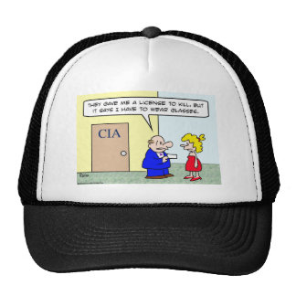 cia license kill wear glasses trucker hat
