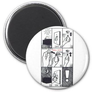 CIA Lightbulb 2 Inch Round Magnet