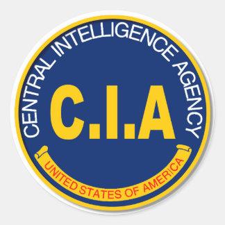 CIA Logo Mockup Classic Round Sticker
