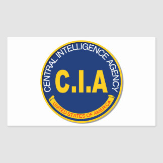 CIA Logo Mockup Rectangular Sticker