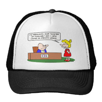 cia master disguise identity crisis hats
