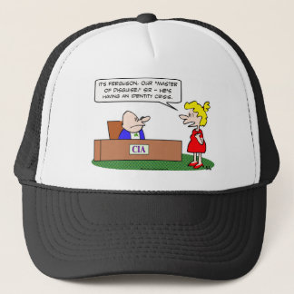 cia master disguise identity crisis trucker hat