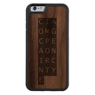 CIA OMG CARVED® WALNUT iPhone 6 BUMPER CASE