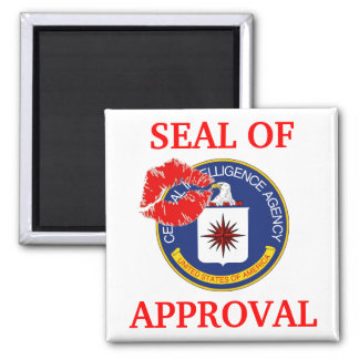 CIA - Seal of Approval 2 Inch Square Magnet