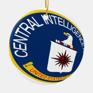 CIA Shield Ceramic Ornament