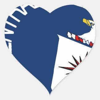 CIA Shield Heart Sticker