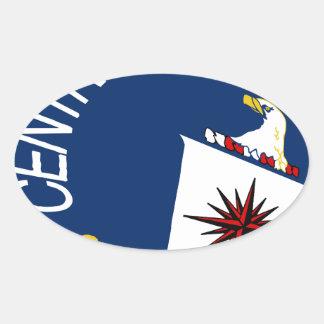 CIA Shield Oval Sticker