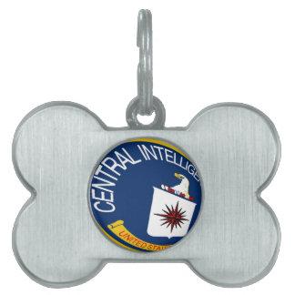 CIA Shield Pet Name Tag