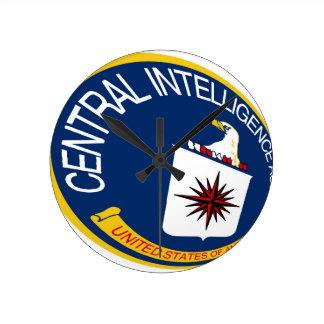 CIA Shield Round Clock
