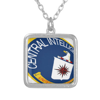 CIA Shield Square Pendant Necklace