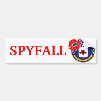 Cia - Spyfall Etiqueta De Parachoque