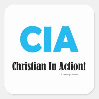 cia square sticker