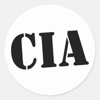 CIA ROUND STICKERS