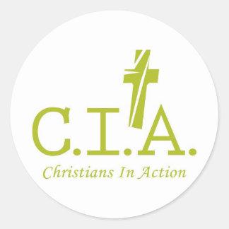 CIA-T-shirts_gren Classic Round Sticker