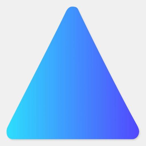 Ciánico eléctrico a la pendiente eléctrica del pegatinas triangulo personalizadas