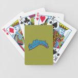 Ciánico en rojo cartas de juego