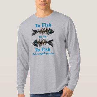 Ciánico esquelético a los pescados o no pescar playera
