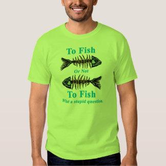 Ciánico esquelético a los pescados o no pescar remeras