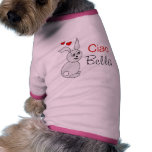 Ciao Bella for dog -- pink Pet T-shirt