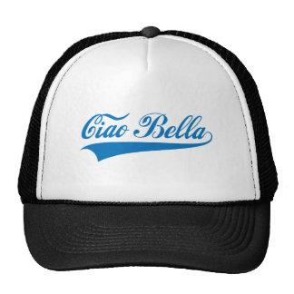 ciao bella, Italian greeting, word art text design Trucker Hat