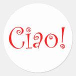 Ciao Classic Round Sticker