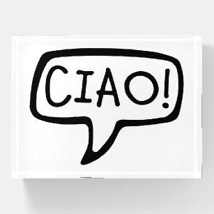 Hello in italian office school products zazzle italian greeting hello hi paperweight m4hsunfo