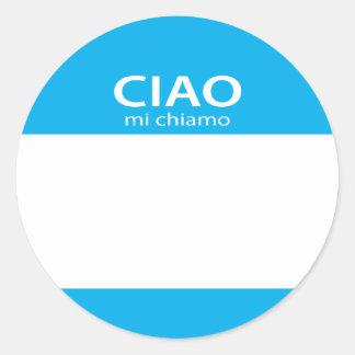 Ciao Mi Chiamo Italian hello name tag
