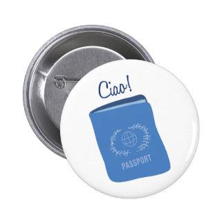 Ciao Passport Pinback Buttons