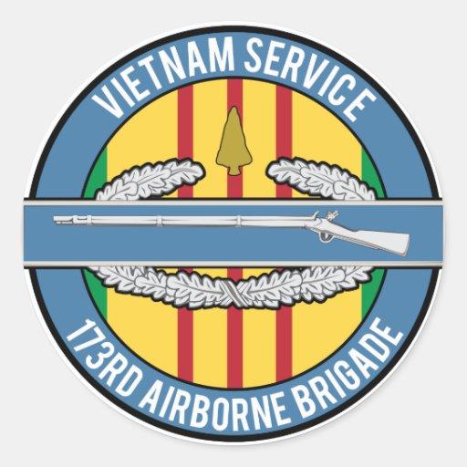 CIB 173o de la punta de flecha de Vietnam Pegatina Redonda