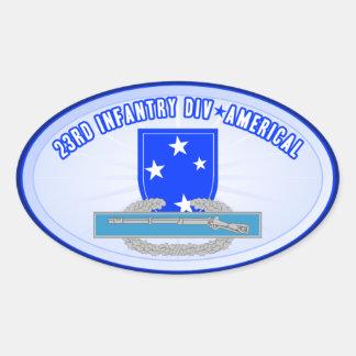 CIB 23 Inf Div (Americal) Pegatina Ovalada