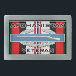 "CIB Afghanistan Belt Buckle<br><div class=""desc"">Combat Infantry Badge (CIB) on the Afghanistan Campaign ribbon with Afghanistan Veteran text</div>"