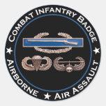 CIB Airborne Air Assault Classic Round Sticker