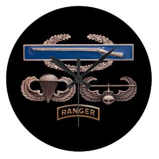 CIB Airborne Air Assault Ranger Clock