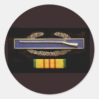 CIB and ribbon sticker